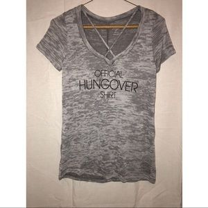 Small grey V neck T-shirt